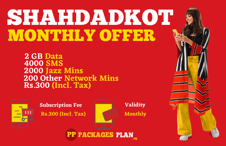 Jazz Shahdadkot Monthly Offer