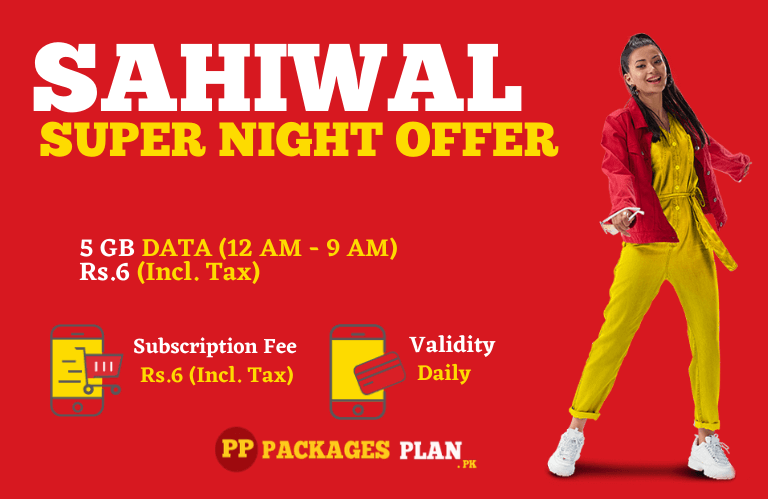 Jazz Sahiwal Super Night Offer