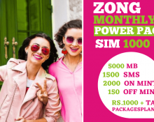 Zong Monthly Power Pack SIM 1000