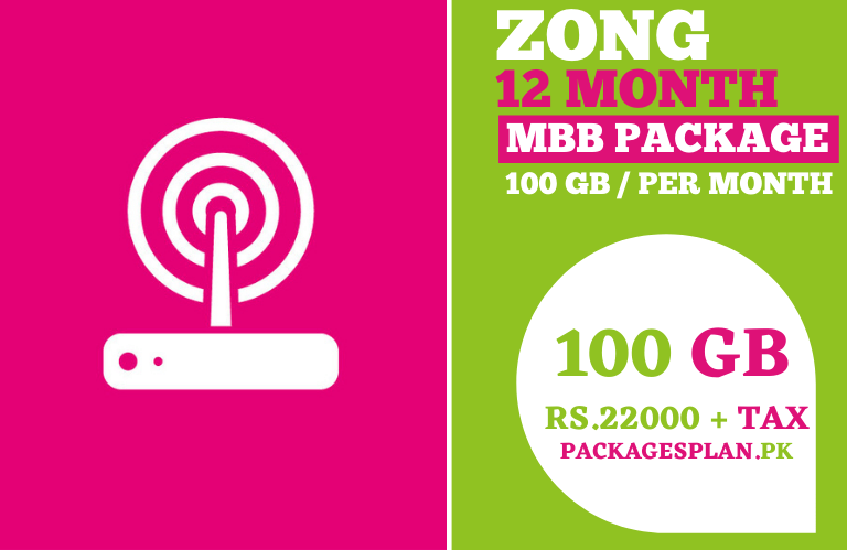 Zong 12 Months MBB Package 100GB