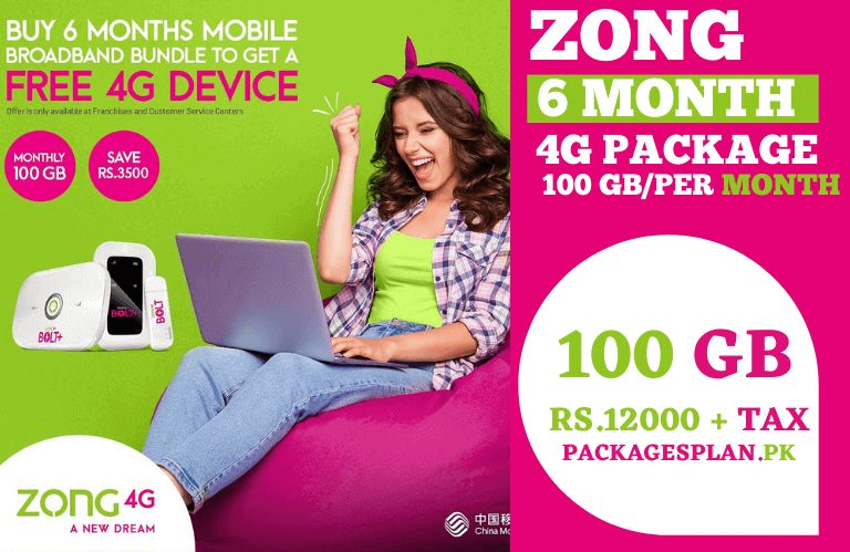 Zong 6 Months MBB Package
