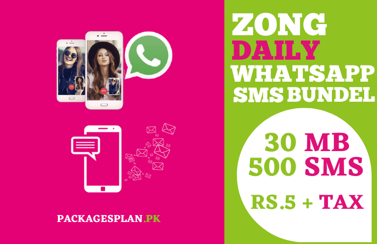 Zong Daily SMS WhatsApp Bundle