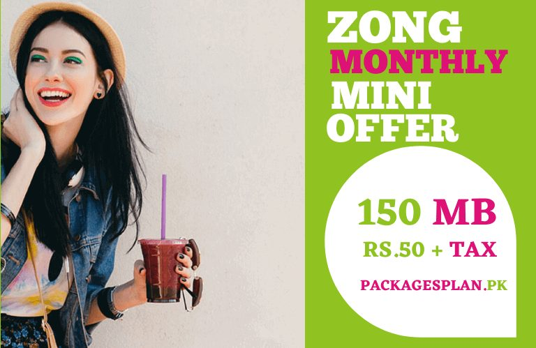 Zong Monthly Mini Internet Package