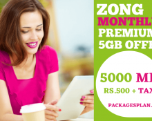 Zong Monthly Premium 5GB