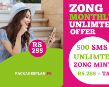 Zong Monthly Unlimited Offer