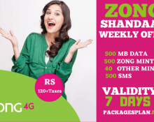 Zong Shandaar Weekly Offer