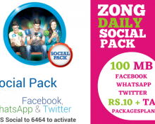 Zong Social Pack (Facebook, WhatsApp, Twitter)