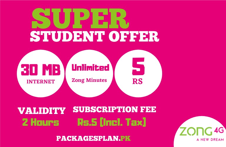 Zong Super Student Offer
