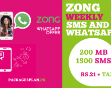 Zong Weekly SMS and WhatsApp Bundle