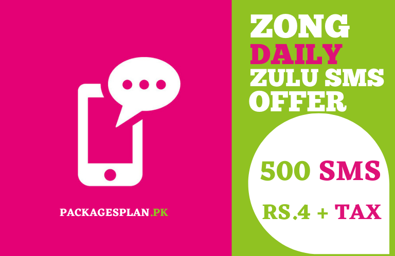 Zong Zulu SMS Offer