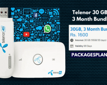 Telenor 30 GB, 3 Month Bundle