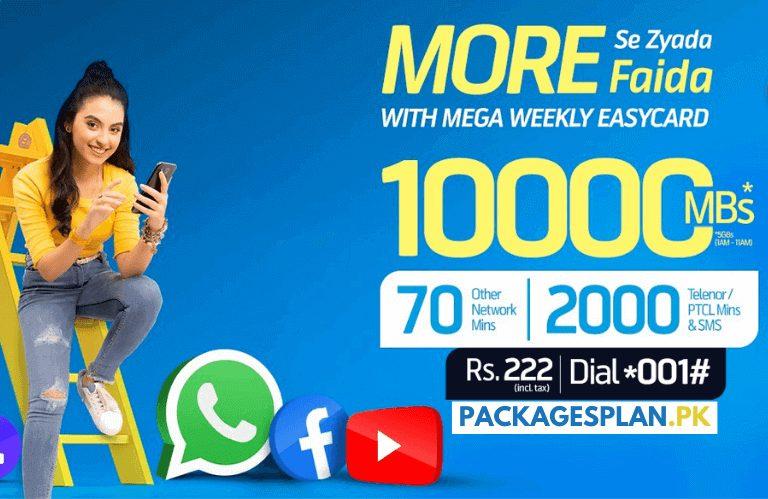 Telenor Mega Weekly Easy Card