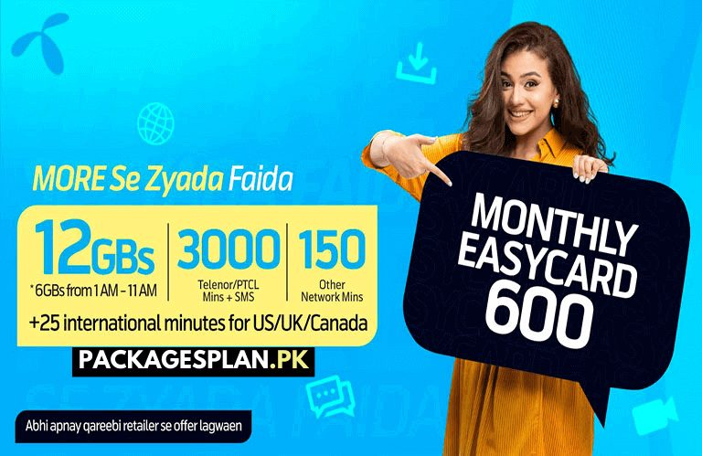 Telenor Monthly Easy Card 600